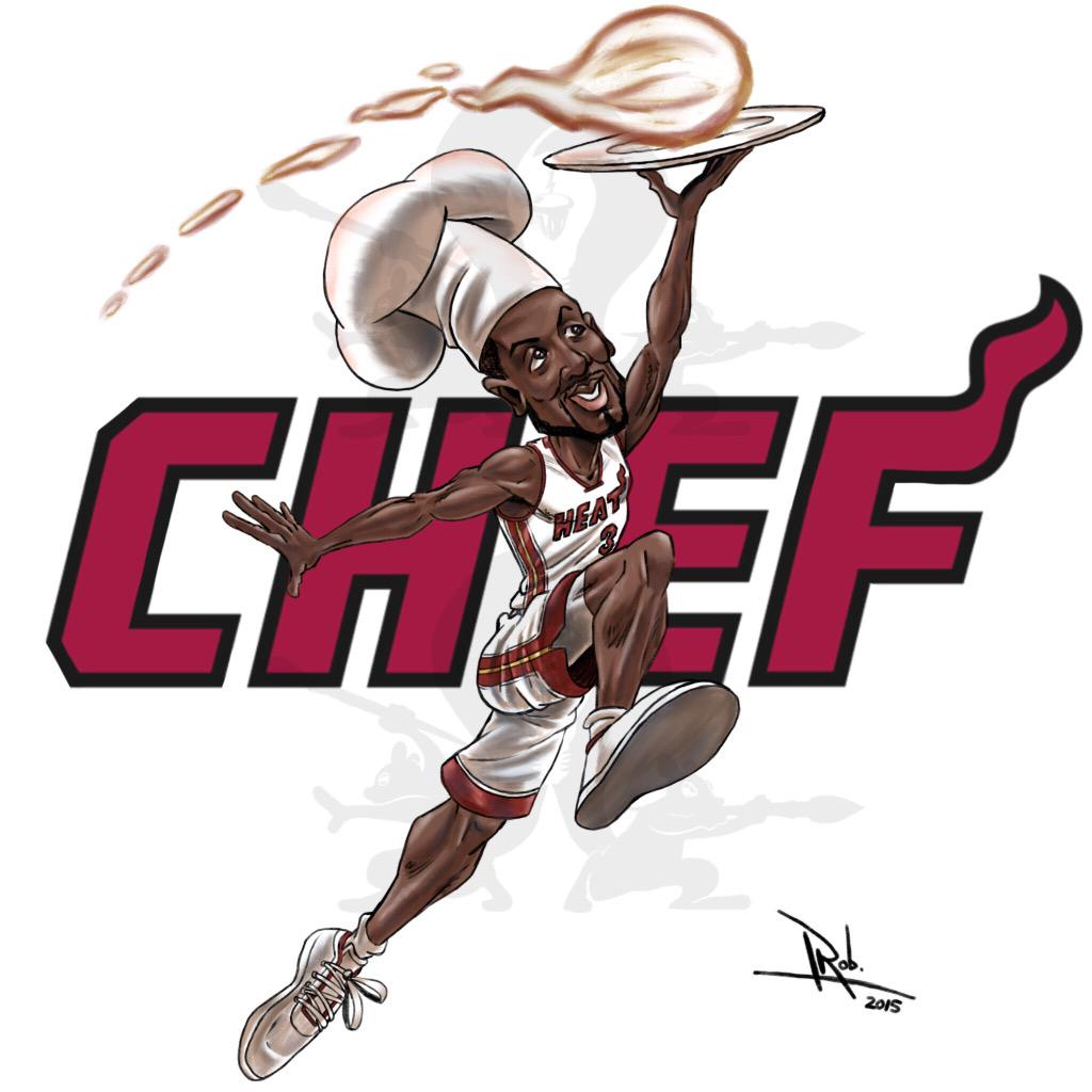 #Chef @DwyaneWade cookin' up some #Nuggets for a 'W'.  #HEATNation @Rizzmigizz @JoyTaylorTalks @iRepTeamHEAT http://t.co/Pi6Vskt0UX