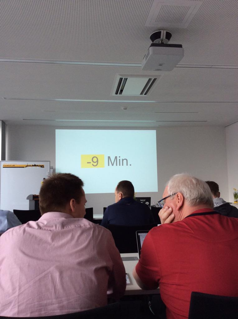 Only 9 minutes #sitFRA 😊 http://t.co/ZODXc1MS1j