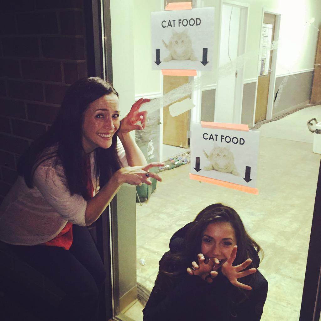 Aaand sometimes this is what happens when ur still shooting late on a Fraturday..Right @ninadobrev ?! #TVD #Delirious http://t.co/WNFPr7VNHP