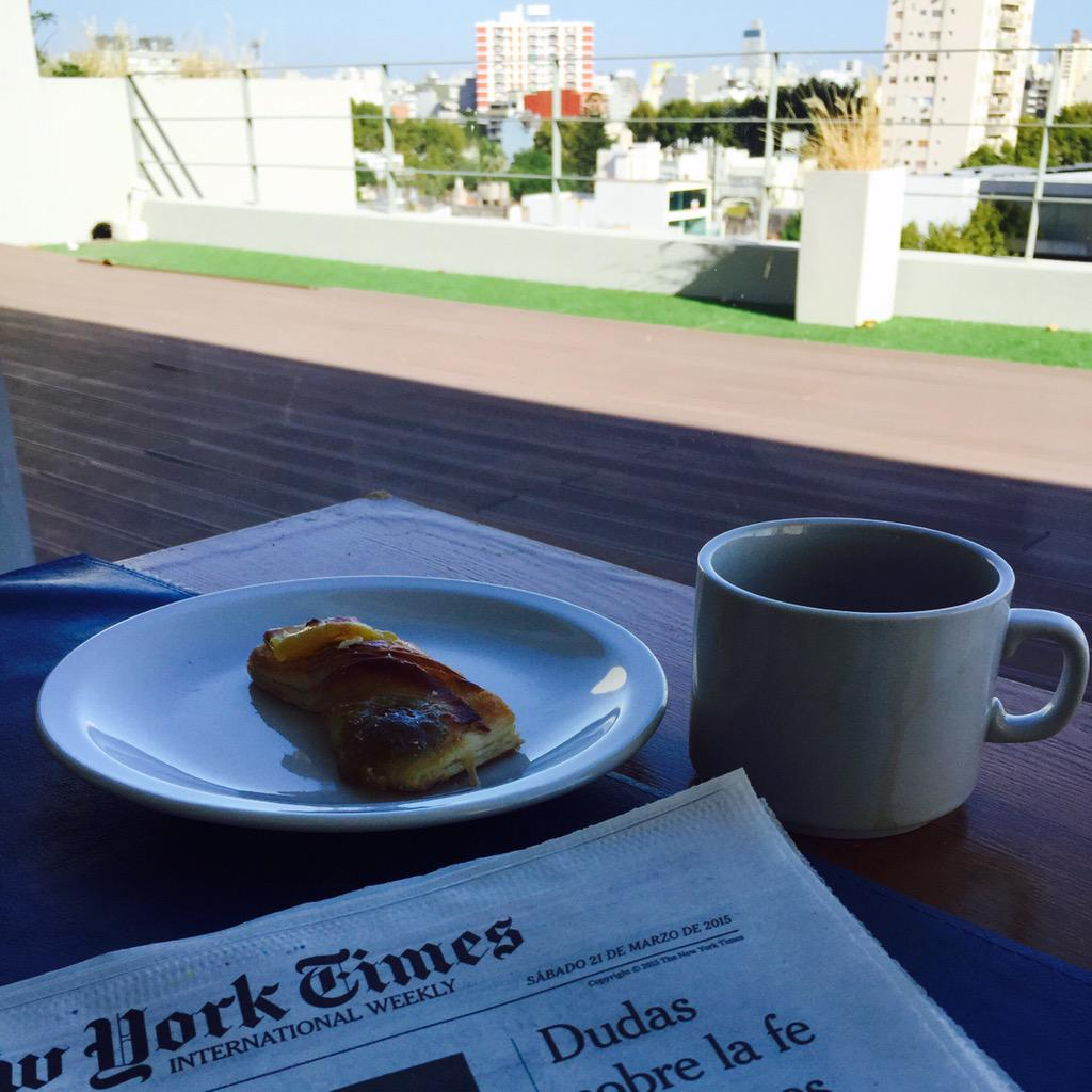 First morning in Buenos Aires. Can't read the news in Spanish... yet. At least I have a nice view. #MedillGlobal http://t.co/gJQZ8vYRSK