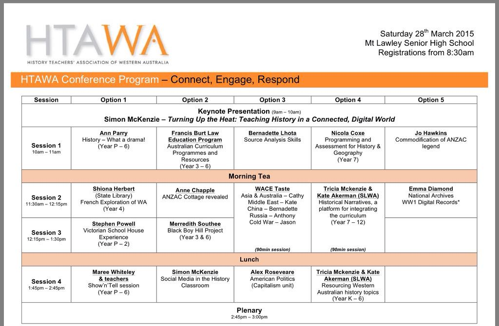"""""""@WA_HTA: #htawa15 conference next Saturday is going to be awesome with amazing presenters http://t.co/0pJWFwLeDQ"""" http://t.co/SdgccsLFP8"""