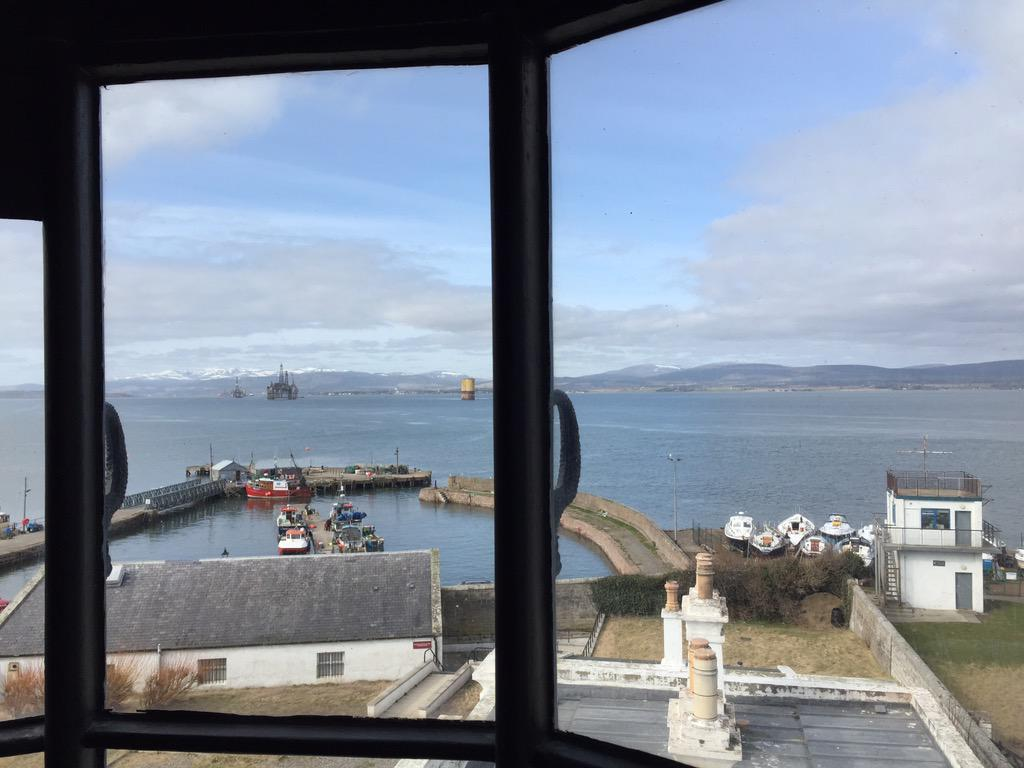 Attention all Shipping Forecast fans - the view from INSIDE Cromarty Lighthouse.  Visibility: Moderate or Good http://t.co/3Q369ZAqXR