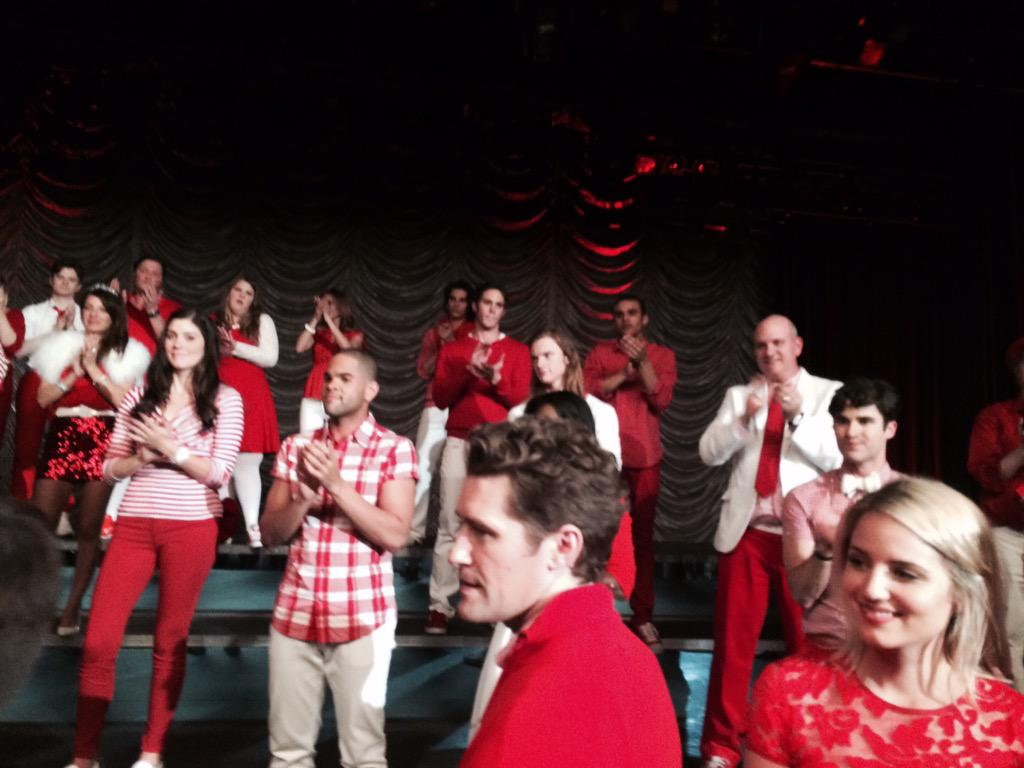 #LastMoments on the set @GLEEonFOX @DiannaAgron @Matt_Morrison @littlelengies @DarrenCriss @TheMikeOMalley http://t.co/19x96PJga0