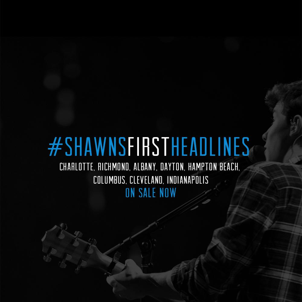 #ShawnsFirstHeadlinesTickets for Charlotte, Richmond, Albany, Ohio, Hampton Beach, & Indianapolis are on sale now !