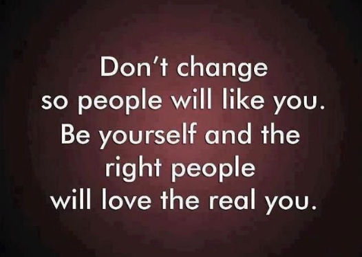 Don't change so people will like you #BeYourself & the right people will love the real you #ThinkBIGSundayWithMarsha https://t.co/9MDqAjF1qI