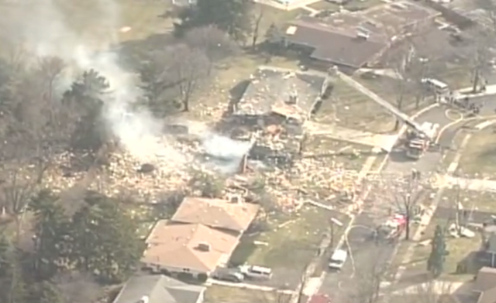 Chopper 10 over the Upper Arlington house explosion. See the entire video at http://t.co/CcLDBjWH9m http://t.co/pXtxwgSr9z