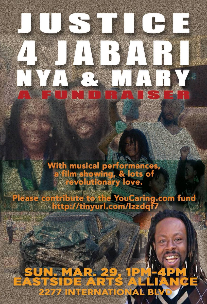 Fundraiser for Jabari Shaw. @ Eastside Arts Alliance | Oakland | California | United States