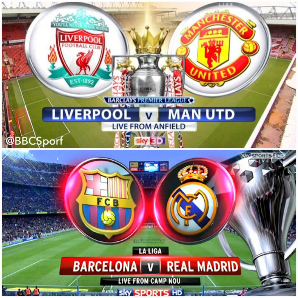 Liverpool Barcelona V S Man Unt Real Madrid