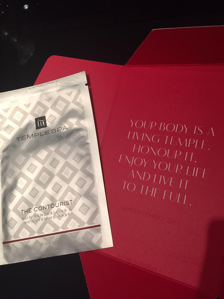 Totally loving this amazing new face mask from @TempleSpa.....beautiful words as well, Go check it out! http://t.co/1LHJPhAjhf