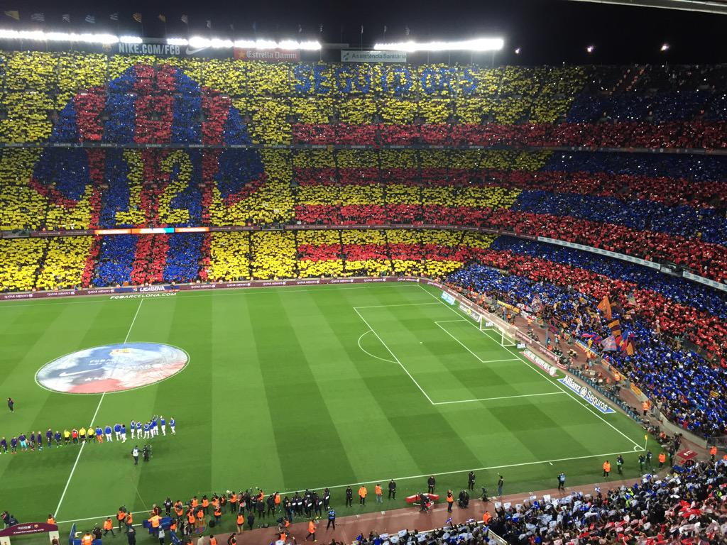 Camp Nou before the clasico. http://t.co/8nyZTWQXxw