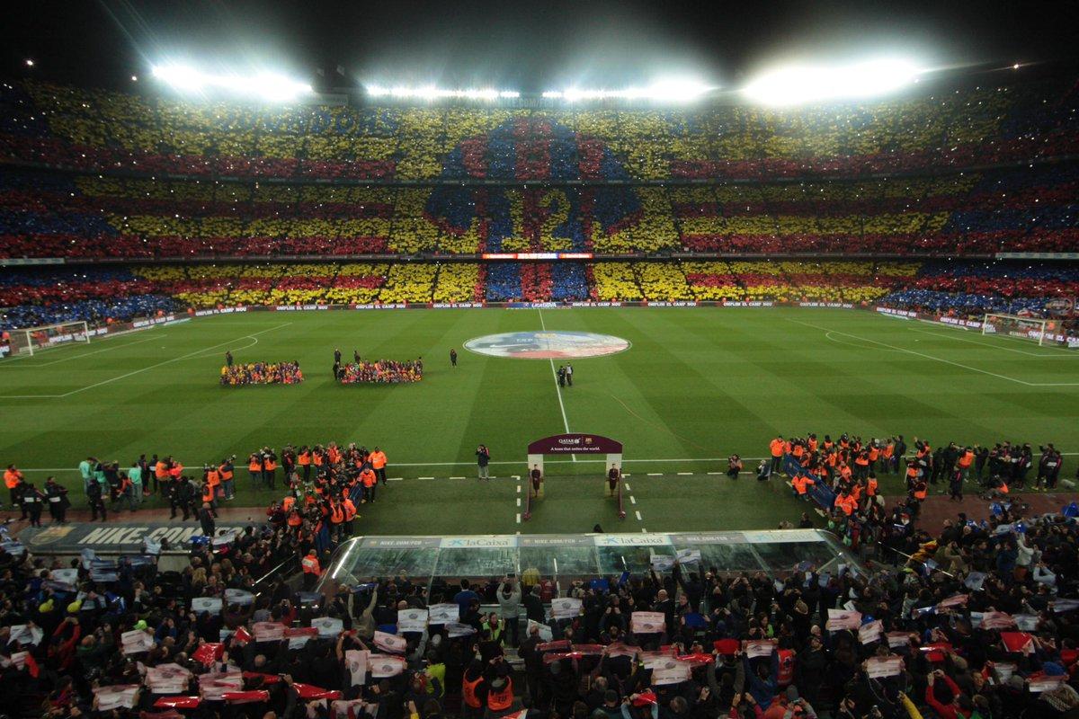 Espectacular mosaico recibe al Barcelona en el Camp Nou