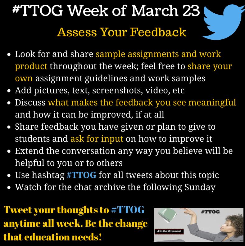 Can't wait! We're dropping our #TTOG chat agenda a day early. http://t.co/olAd7SyHUR