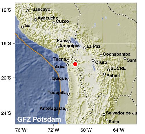 Terremoto fra Cile e Perù