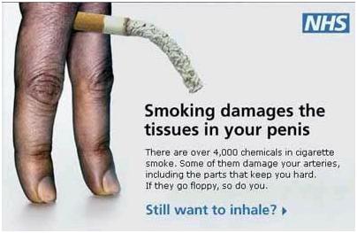 smoking shortens penis
