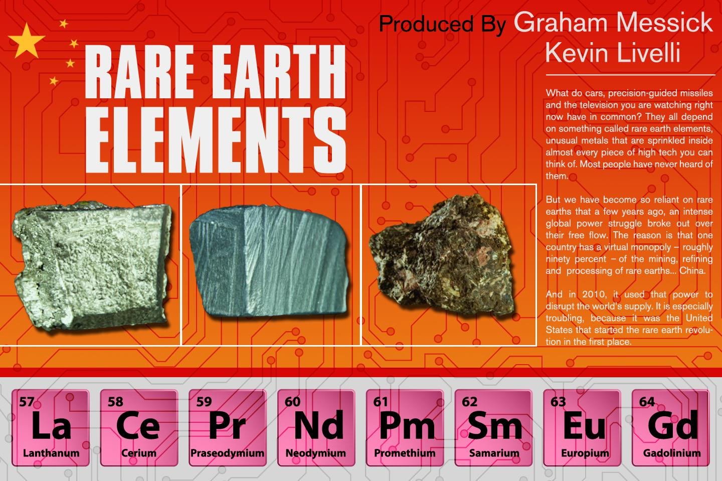"rare earth elements ""separation of rare earth elements"" commemorative booklet produced by the national historic chemical landmarks program of the american chemical society."