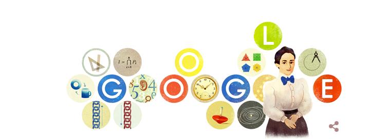 Emmy Noether Doodle Google 23 marzo 2015