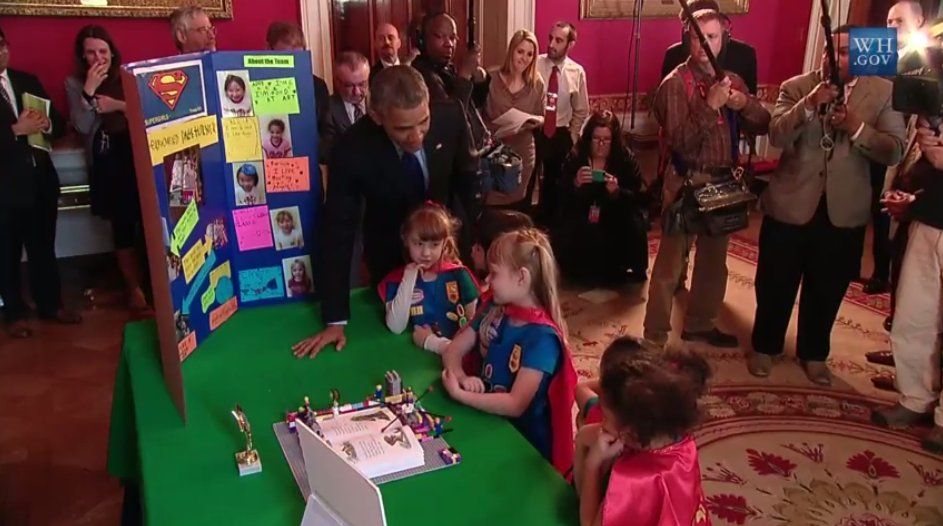 Supergirls Conquer Obama at White House Science Fair