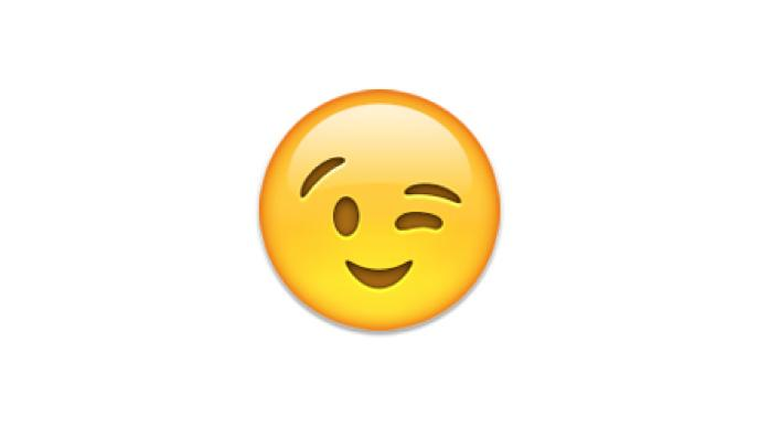 Knipoog smiley flirten