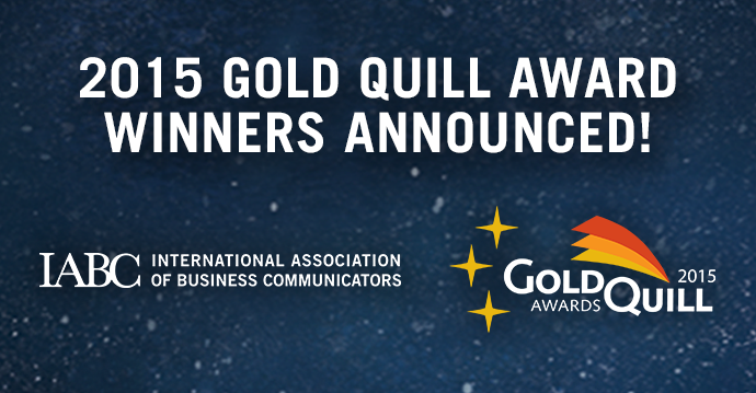 Congratulations to all the communicators recognized in the 2015 Gold Quill Awards! http://t.co/gamb43BTlL #iabcgq http://t.co/0JaHHi82MM