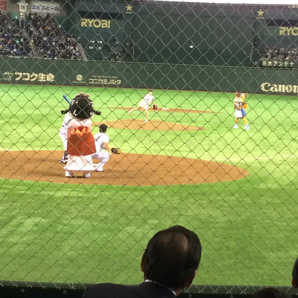 日ハム東京ドーム戦ファーストピッチングはモーニング娘。`15 牧野真莉愛。かわいいなぁ。 http://t.co/vRebaJFee1
