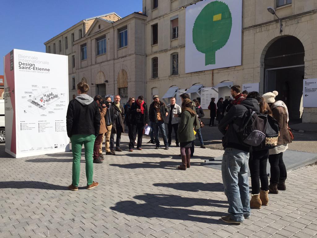"""[Pic] #tiliosdesign 1er stop à la Cité du Design (qui héberge une partie de la """"biennale"""" http://t.co/oXjXJ8VZIy). http://t.co/cHLRohmrx8"""