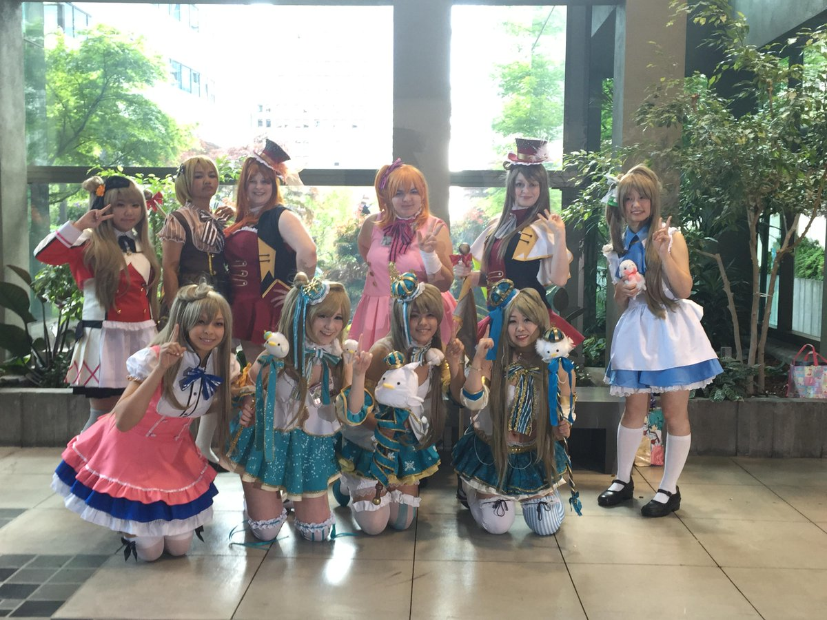 """Kyo@Aqours HPT Tour on Twitter: """"Sakura-con day 2 Love Live Cosplay photoshoot! #lovelive http://t.co/WS6TYOPQrv"""""""