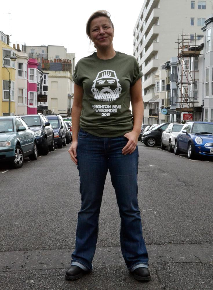 Honorary bear @kathycaton models our 2015 t-shirt. Watch out for us on her @radioreverb Out in Brighton show soon! http://t.co/gU4fNLTdMP