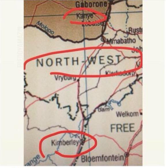 kanye west africa map