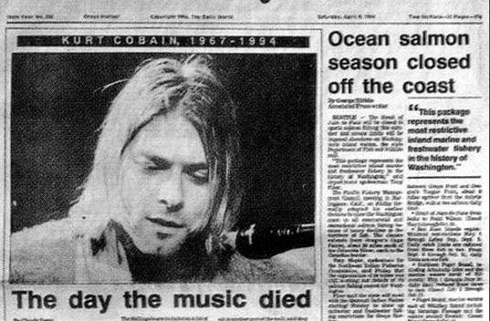 RIP #KurtCobain - It's been 21 years to the day the worlds been without @Nirvana's lead:  http://t.co/BfdNtE31BX http://t.co/U9j47v7wCG