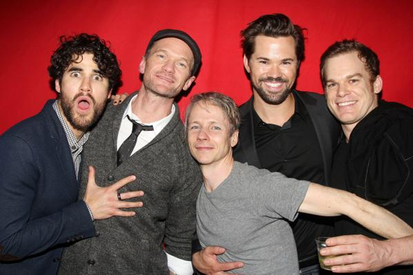 Hedwigs past, present and future  @DarrenCriss @ActuallyNPH #JCM @AndrewRannells #MCH #HedwigOnBway http://t.co/cZzJoMPi95