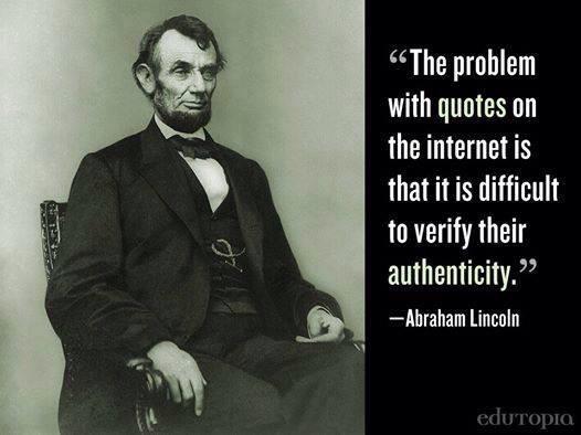 Good ol Honest Abe tells it like it is.... http://t.co/qyVXH19iAB