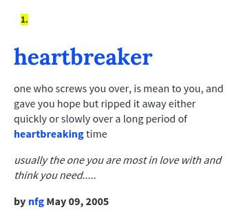 you are a heartbreaker