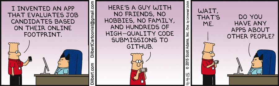 Pretty awesome that Dilbert uses GitHub. http://t.co/J2ej6UF8f2