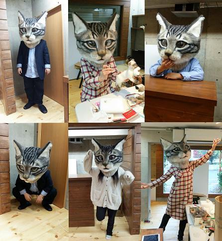 羊毛フェルト製「リアル猫ヘッド」は猫を被る人によって雰囲気が違って見えるので面白いです。上野・東京都美術館・平泉展選抜展・佐藤法雪【猫科】生徒作品展。4月18日(土)~23日(木)※月曜休み会場:東京都美術館(上野)1階第1展示室 pic.twitter.com/FNbHCgfHZF