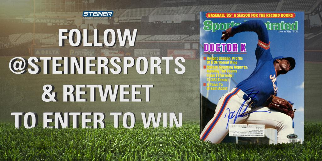 FOLLOW @steinersports + RETWEET to enter to win this signed @DocGooden16 Sports Illustrated Magazine! http://t.co/AzV6NmtAdM