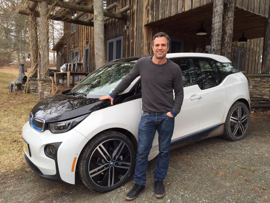 photo of Mark Ruffalo BMW i3 - car