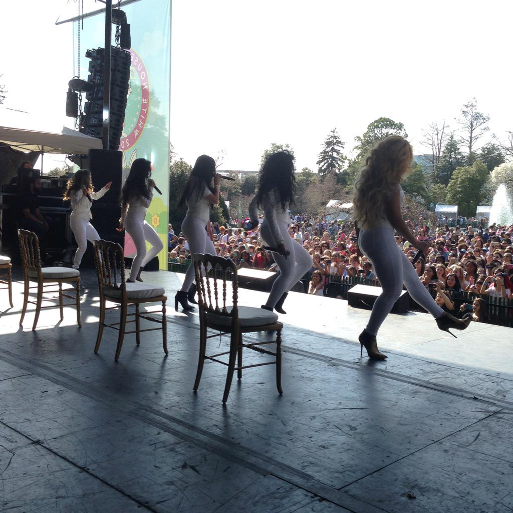 My View: @FifthHarmony ROCKIN the @WhiteHouse Easter Egg Roll #GimmeFive #WorthIt http://t.co/ImPEcyb2wp
