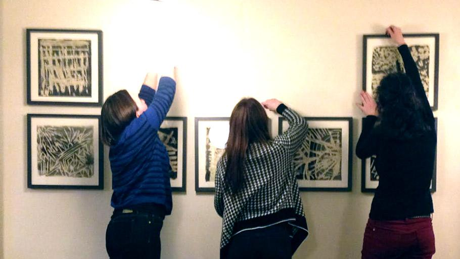 Setting up for art show @CremaTO in #JunctionTO to benefit Label STEP #fairtrade http://t.co/8ooM6iy5MV http://t.co/cdHKoEe8fG