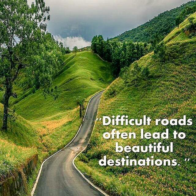 Difficult roads often lead with beautiful destinations. Never give up. #TeamBossyGals http://t.co/z8TWVnwSE3