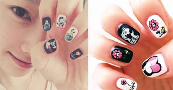 Kpop herald on twitter taeyeon shows off snoopy nail art http 1034 pm 6 apr 2015 prinsesfo Image collections