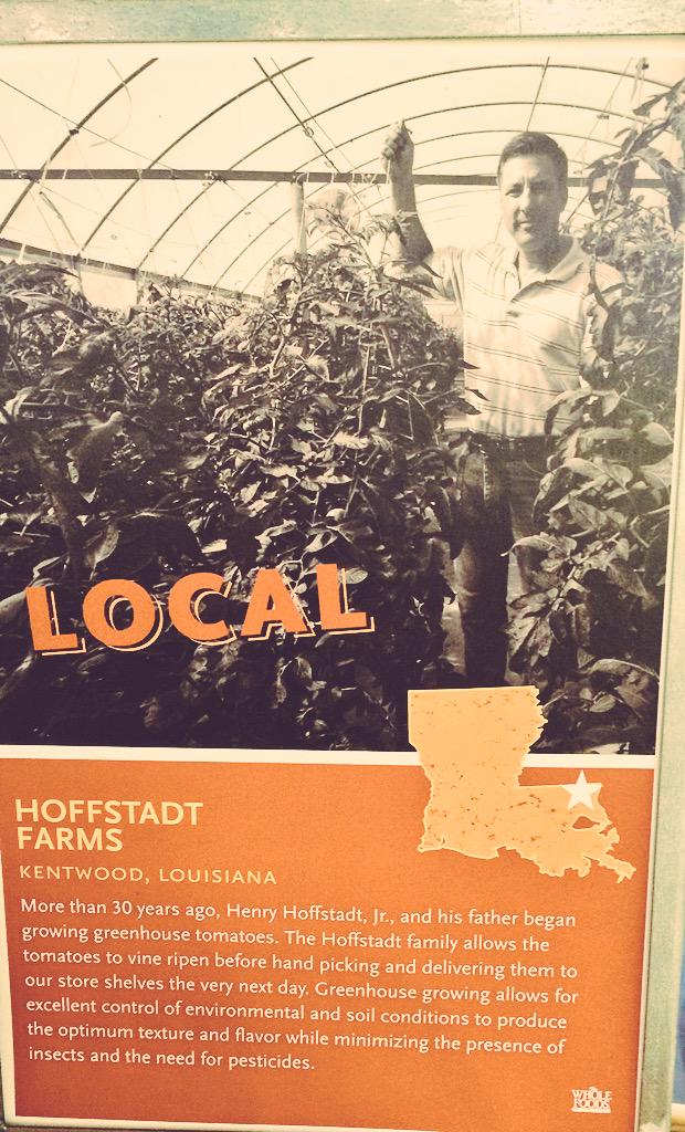 @WholeFoods Love that y'all embrace local farmers! #supportlocal #KentwoodLouisiana pic.twitter.com/HiCCICYeD5