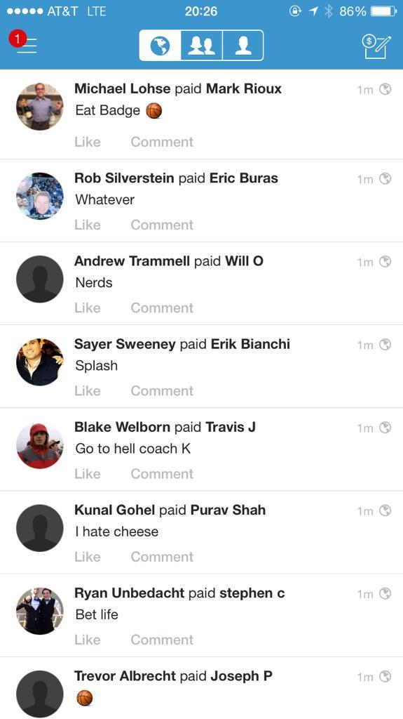 Lol. Venmo bracket debts. http://t.co/NM2hWpdVsE