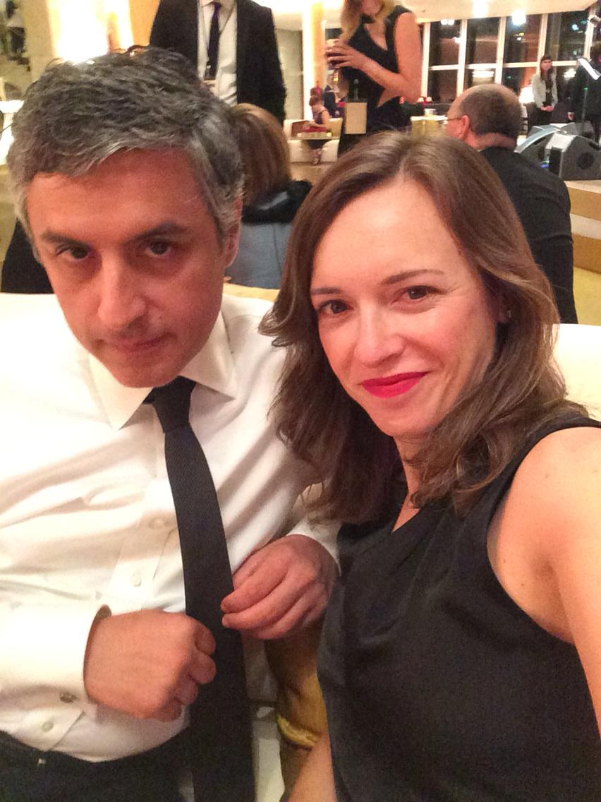 Reza Aslan On Twitter With The Missus At The ManMen Black Red