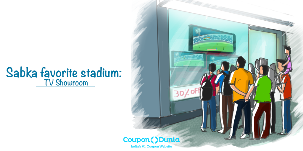 Why pay for #match #tickets when we have TV showrooms with glass walls! #PayLess #IndvsAus #WC2015 http://t.co/QqWUq8Prhm