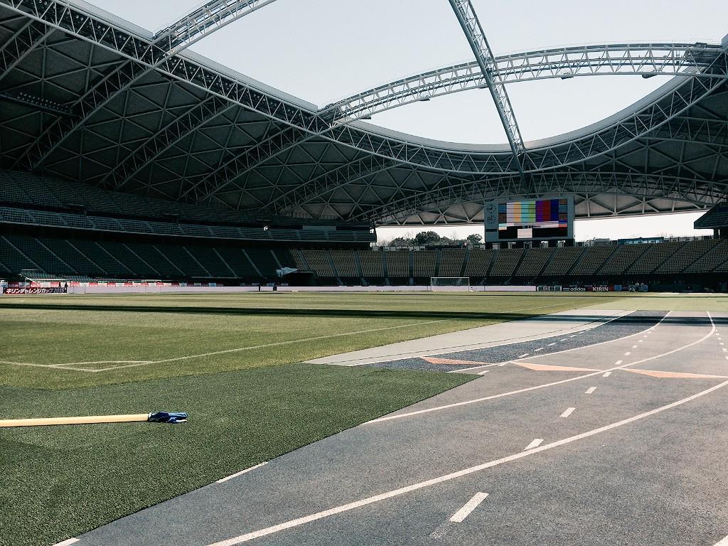 【いよいよ明日、ハリルJAPAN初陣!】  大分スポーツ公園総合競技場にて 明日放送のセッティング中です! お楽しみに!  明日(金)夜7時~TBS系列生中継 キリンチャレンジカップ2015 日本×チュニジア