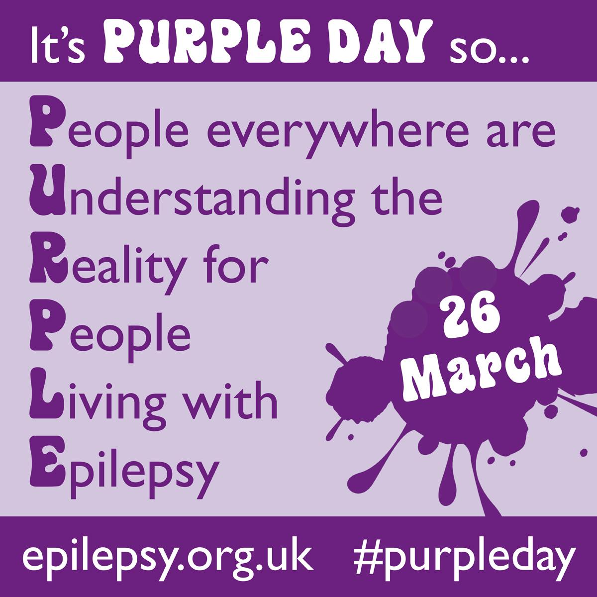 Happy #purpleday, the global awareness day for #epilepsy http://t.co/HVb1V3CgiG http://t.co/jHf8KBWMvv