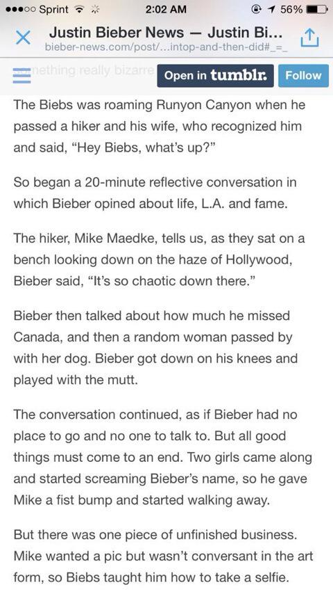 """Justin Bieber bares his soul to total stranger"" this is so sweet but so sad http://t.co/yv3iqKE7jZ"