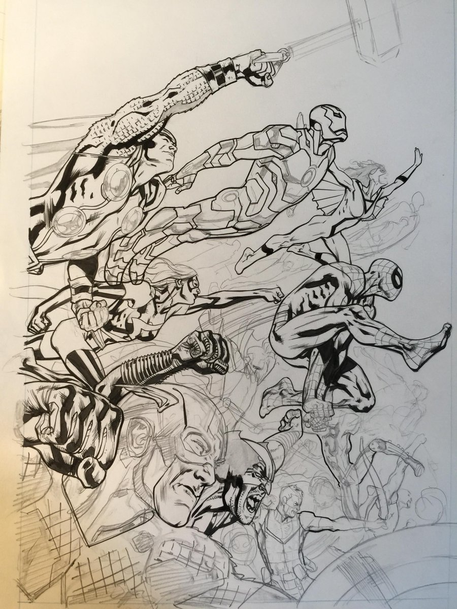 found another unfinished Avengers cover whilst looking for some other art… http://t.co/yCu4nPaZOQ