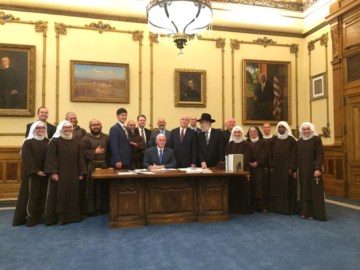 Indiana Governor Mike Pence Signing SEA 101 into Law