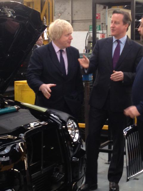 In Coventry w/ @Number10gov to see black cabs being assembled & announce huge investment in new cleaner cabs for Ldn http://t.co/lanh1SnhKg